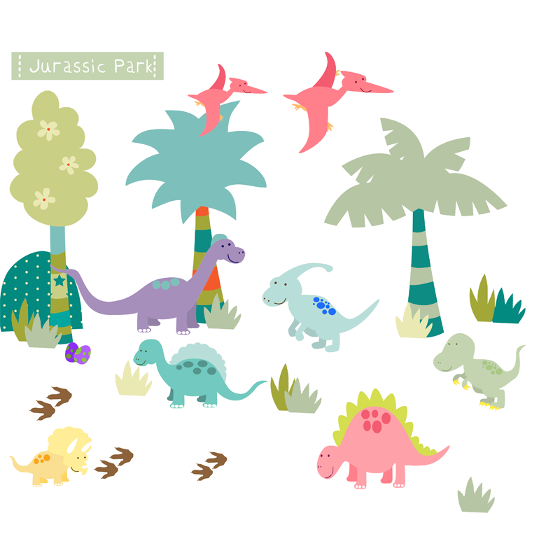 dinosaur wall stickers littleprints