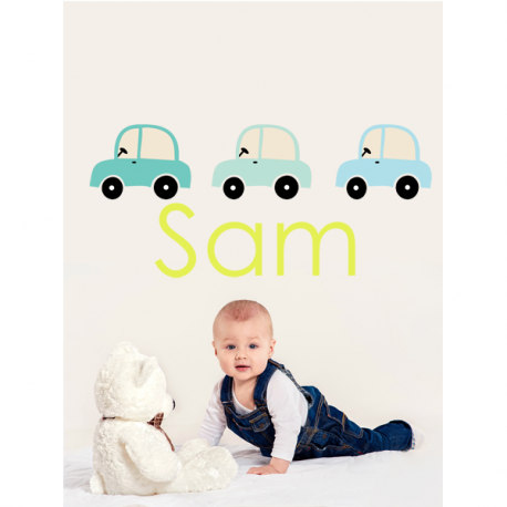 Car Name Wall Sticker