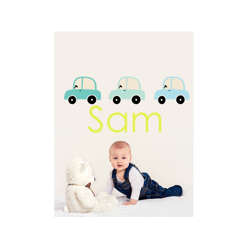 car name wall sticker littleprints