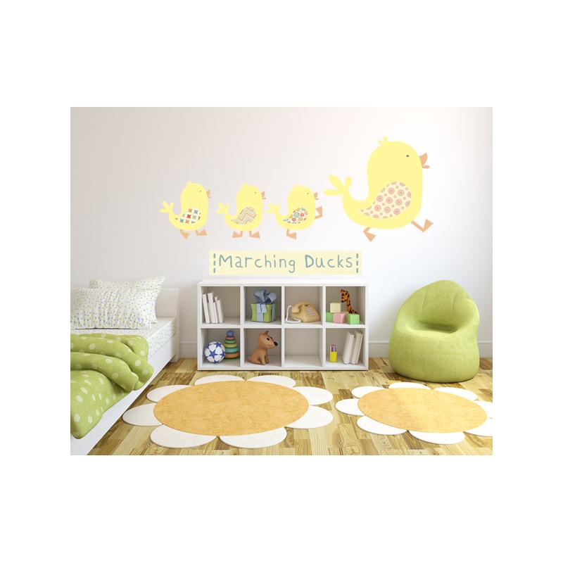 marching ducks wall stickers littleprints k 248 b vinyl badev 230 relse wallstickers gummi duck family og