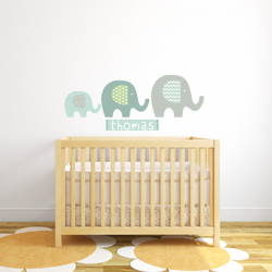 Elephant Name Sticker