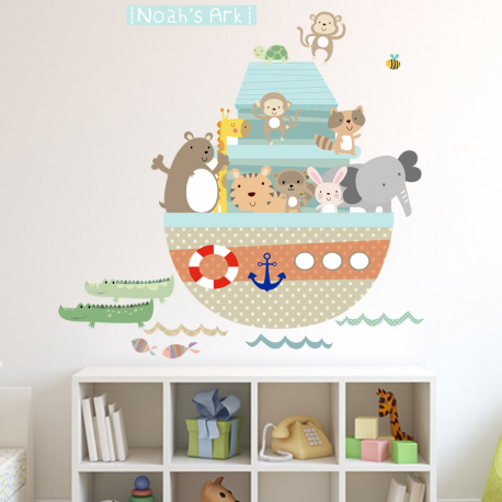 Noah's ark fabric wall stickers