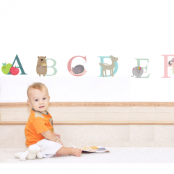 Alphabet Fabric Wall Stickers