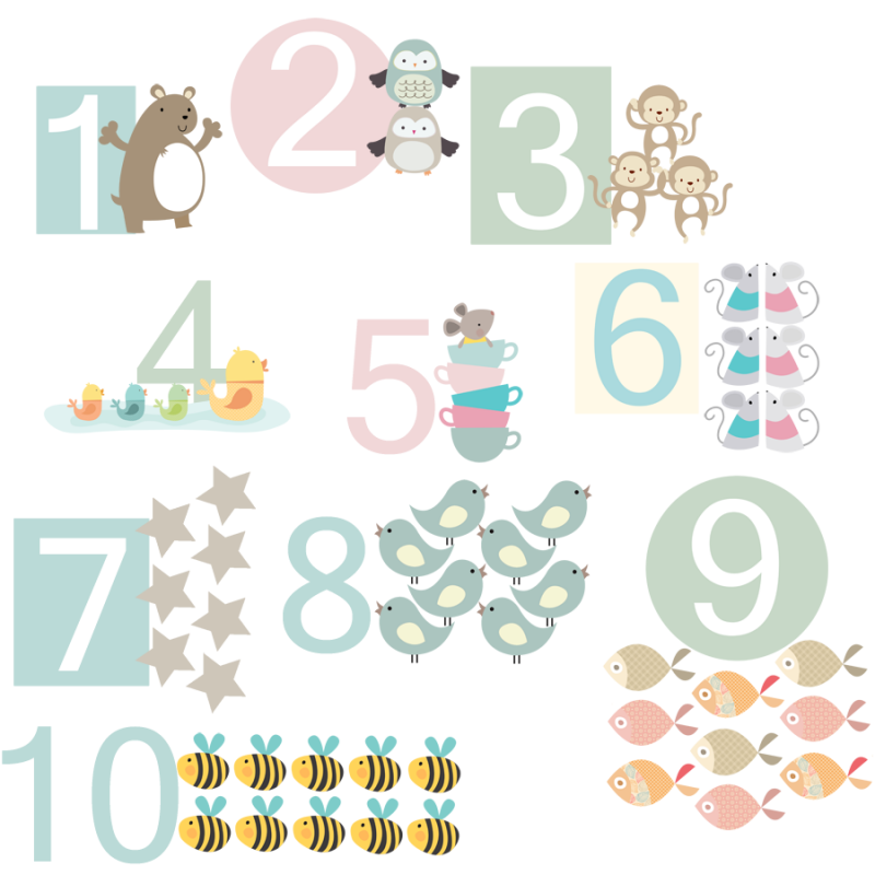 Number Fabric Wall Stickers; Number Fabric Wall Stickers Part 56