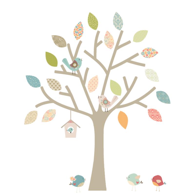 Bespoke Pastel Tree with extra birds