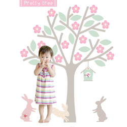 Blossom Tree extra large Fabric Wall Sticker