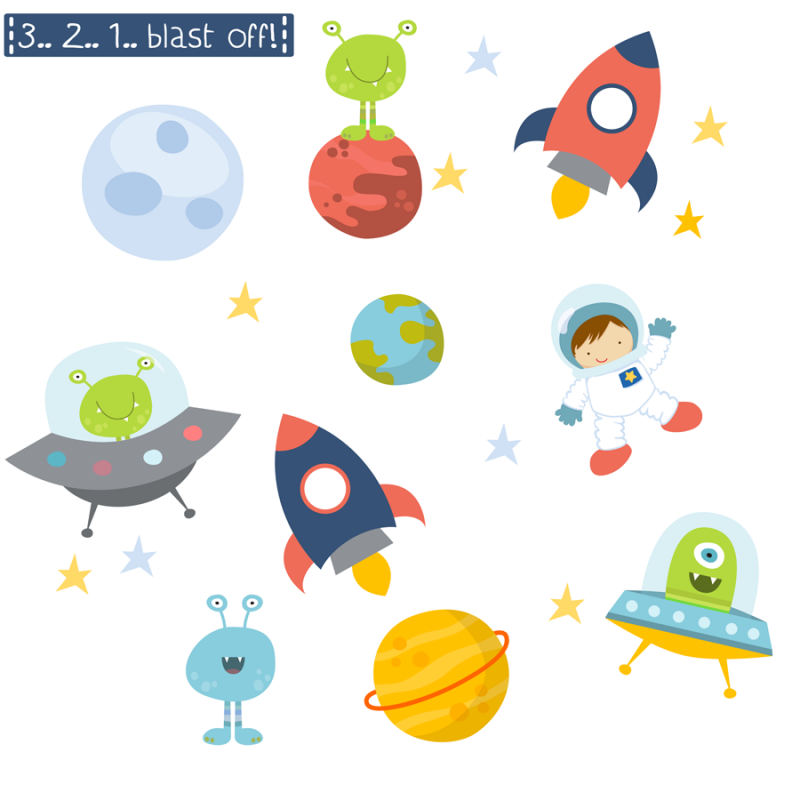 space fabric wall stickers littleprints space silhouettes wall sticker wall stickers