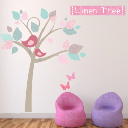 Linen Tree Wall Sticker