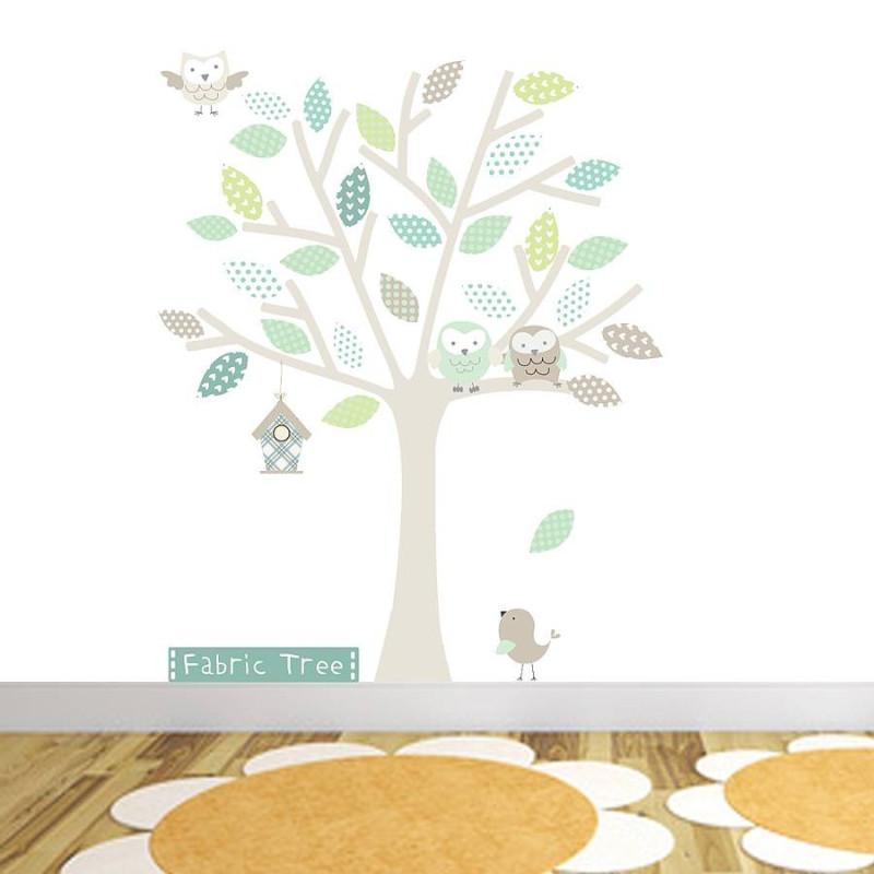 Neutral Fabric Tree Wall Sticker