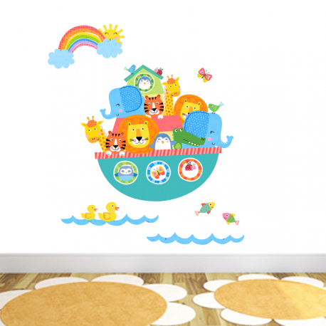 Noahs Ark Printed Wall Sticker Wall Decal Save Today On All Wall - Wall decals noah's ark