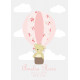 Personalised Pink Hot Air Balloon Print