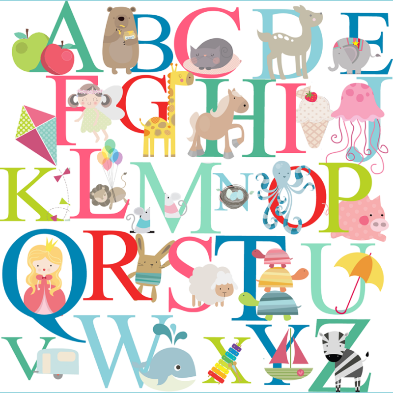 alphabet fabric wall stickers littleprints kids alphabet wall sticker wall art com