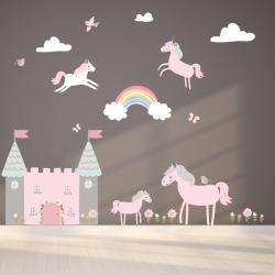 Unicorn Fabric Wall Stickers