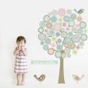 Button Tree Fabric Wall Sticker