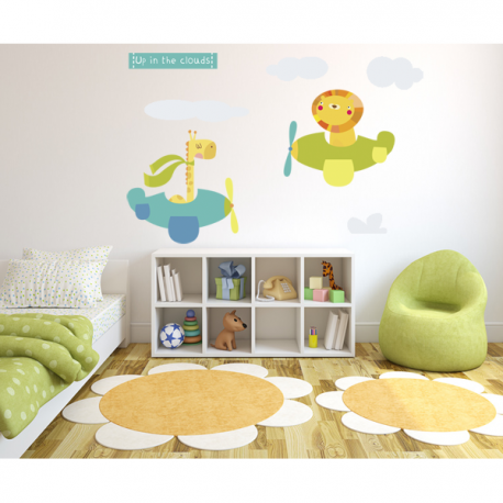 In The Clouds Wall Sticker
