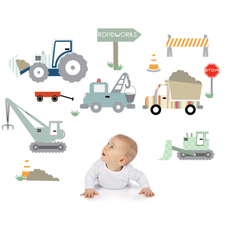 Construction Site Wall Stickers