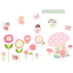Flower Fairies fabric wall stickers