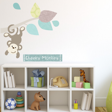 Monkey Branch Fabric Wall Stickers