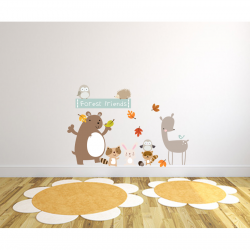 Forest Friends Fabric Wall Stickers