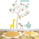 Sunny Safari Fabric Wall Stickers