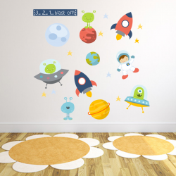 Space Fabric Wall Stickers