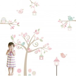 Springtime Tree Fabric Wall Sticker