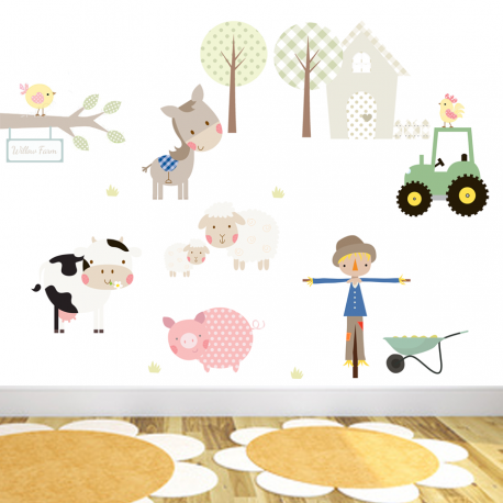 Willow Farm Fabric Wall Stickers