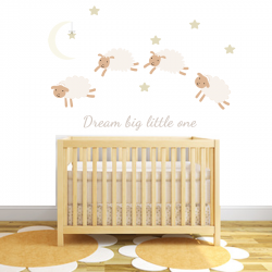 Dream Sheep Fabric Wall Stickers