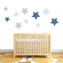 Star fabric wall stickers