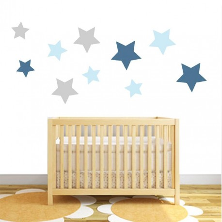 Star fabric wall stickers