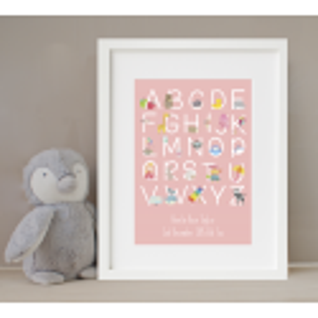 Personalised Pink Alphabet Print