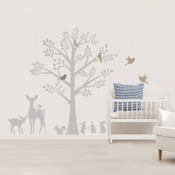 Vintage Tree Wall Stickers