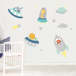 Space Buddies Wall Stickers