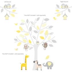 Safari Branch Grey,Yellow Or Seagrass Wall Stickers