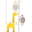 Grey and yellow safari Height Chart
