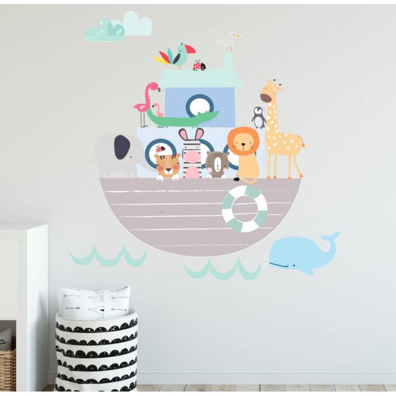 Noah's Animal Ark Fabric Wall Sticker