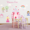 Princess And Unicorn Fabric Wall Stickers and name stickers