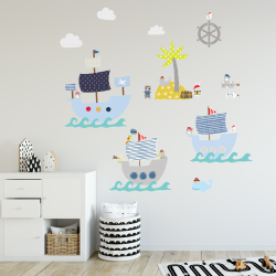 Pirate Party Fabric Wall Stickers
