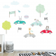 Little racers wall stickers