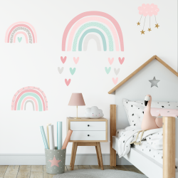 Rainbow fabric wall stickers